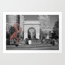 Unseen Monsters of New York - Catty Wampus Art Print