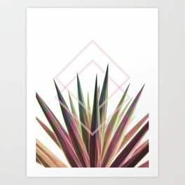 Tropical Desire - Foliage and geometry Art Print