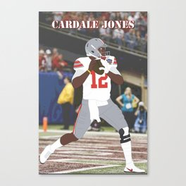 Ohio State Buckeyes - Cardale Jones (2015) (Vector Art) Canvas Print