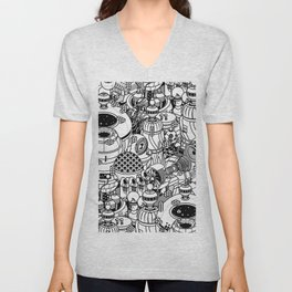 Dark Matter Space Machine Unisex V-Neck