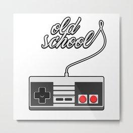 Old School Video Game Novelty Metal Print