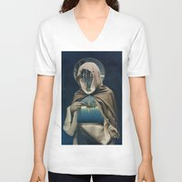 sailor V-neck T-shirts featuring SAILOR by Julia Lillard Art
