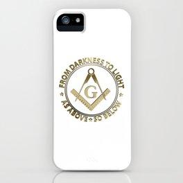 Freemasonry emblem iPhone Case