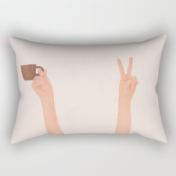 Good Peaceful Morning Rectangular Pillow