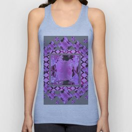 PURPLE AMETHYST FEBRUARY GEM BIRTHSTONES MODERN ART DESIGN Unisex Tank Top
