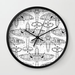 Spitfire Mk. XIV (black) Wall Clock