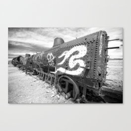 Train Graveyard #1 (Bolivia) Canvas Print