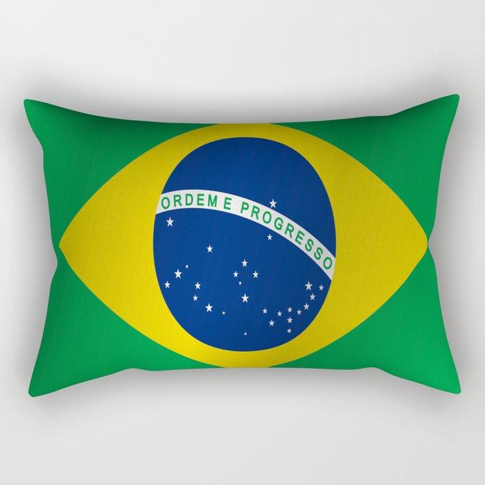 Flag of Brazil Rectangular Pillow
