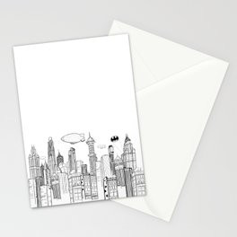 Gotham City Skyline Stationery Cards