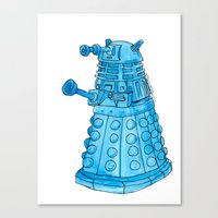 dalek Canvas Prints featuring Dalek by Margret Stewart