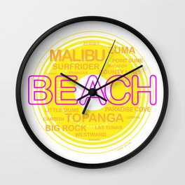 Southern California Beaches Wall Clock
