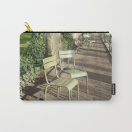 Chairs beside the Medici Fountain, Luxembourg Garden, Paris Carry-All Pouch