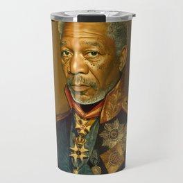 Morgan Freeman - replaceface Travel Mug