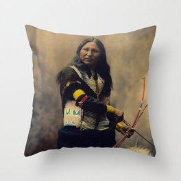 Shout At, Oglala Sioux, by Heyn Photo, 1899 Throw Pillow