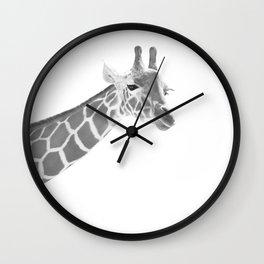 Giraffe Black & White Dream #1 #dreamy #decor #art #society6 Wall Clock
