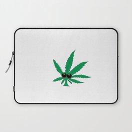 """Cartoon Weed Leaf Design"""" Marijuana leaf Leaf Laptop Sleeve"""