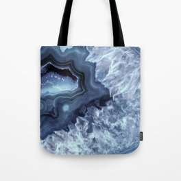 Steely Blue Quartz Crystal Tote Bag