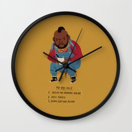 T to-do-list. Wall Clock