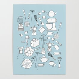 in the kitchen Poster