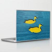 ducks Laptop & iPad Skins featuring Ducks by Brontosaurus