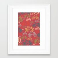 yowamushi pedal Framed Art Prints featuring pedal by jennifer judd-mcgee