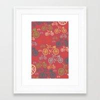yowamushi pedal Framed Art Prints featuring pedal by jennifer judd-mcgee