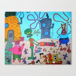 Mature Spongebob  Canvas Print