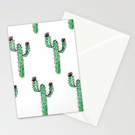 Cactus Flower II Pattern Stationery Cards