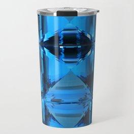 BLUE CRYSTAL GEMS PATTERN Travel Mug