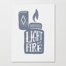 Light my fire Canvas Print