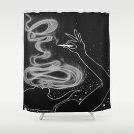 Midnight Toker (#3), Smoking Lady Series Shower Curtain