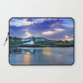 Cockle Row Cottages, Ireland. (Painting) Laptop Sleeve