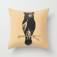 leaves Throw Pillows featuring I Have a Dream by Norman Duenas
