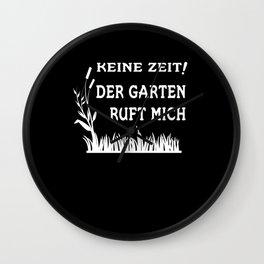 The Garden Is Calling Gift Idea Gardeners Wall Clock