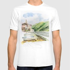 Kotor White Mens Fitted Tee MEDIUM