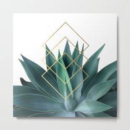 Agave geometrics Metal Print