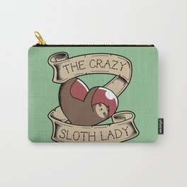 Crazy Sloth Lady Tattoo Carry-All Pouch