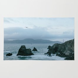 View of Golden Gate Bridge from Sutro Baths Rug