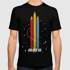 Star Trek - Boldly Go Mens Fitted Tee Black LARGE