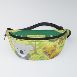Animals Australia snake, turtle, crocodile, alliagtor, kangaroo, dingo Fanny Pack