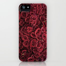 Flower Market 3 - Red Roses iPhone Case