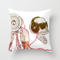 sound Throw Pillows featuring Sound by Kier-James