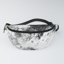 Chaotic Space : Galaxy Black White Gray Fanny Pack