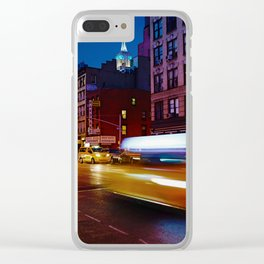 Taxi's Whizzing By Clear iPhone Case