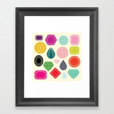Gems Framed Art Print