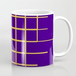 Blue & Gold Matrix Coffee Mug