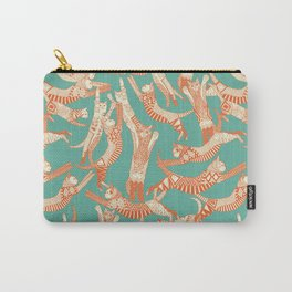cat party jade orange Carry-All Pouch
