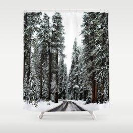 Winter Road #snow Shower Curtain