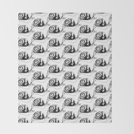 Snails Drawing/Pattern Throw Blanket