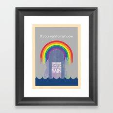 Rainbow Needs Rain Framed Art Print